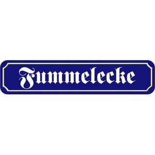 """Schild Spruch /""""Freibier gibts morgen/"""" 46 x 10 cm Blechschild blau"""