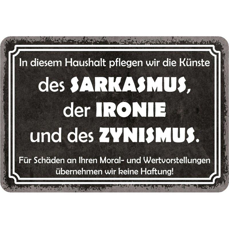 Schild Spruch Haushalt Sarkasmus, Ironie, Zynismus 20 x