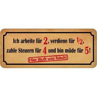 """Schild Spruch /""""bereit Feierabend Wochenende Urlaub Rente/"""" 27x10 cm Blechschild"""