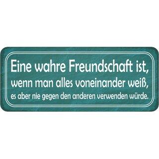 """Schild Spruch /""""Freundschaft mit Bekloppten bekloppter sein/"""" 20x30 cm Blechschild"""