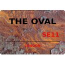 Schild The Oval SE11 Steinoptik 20 x 30 cm