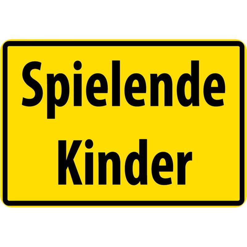 """Schild Spruch """"Spielende Kinder"""" Gelb 20 x 30 cm, 7,99"""