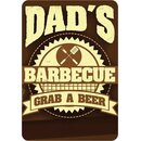 Schild Spruch Dads Barbecue, Grab a beer 20 x 30 cm