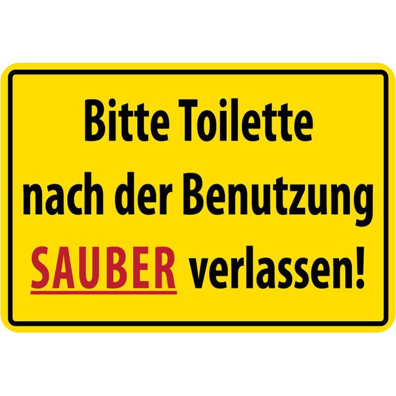 Sauber hinterlassen toilette Schild selbst