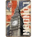 Schild Motiv London Big Ben 20 x 30 cm