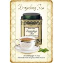 Schild Spruch Darjeeling Tea, champagne selected from...