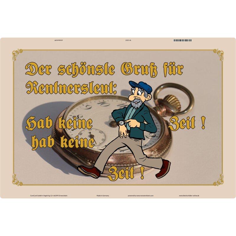 """Schild Spruch /""""Pessimist ist ein Optimist mit Erfahrung/"""" 20 x 30 cm Blechschild"""