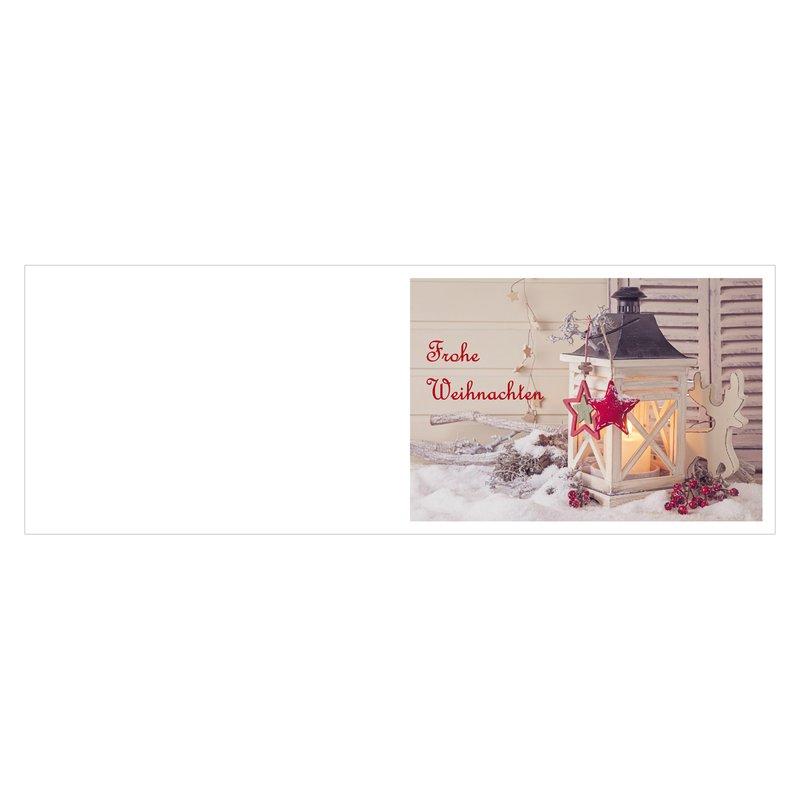 """5er Pack Klappkarten mit Umschlag Weihnachtskarte /""""Laterne/"""" Glückwünschkarte"""