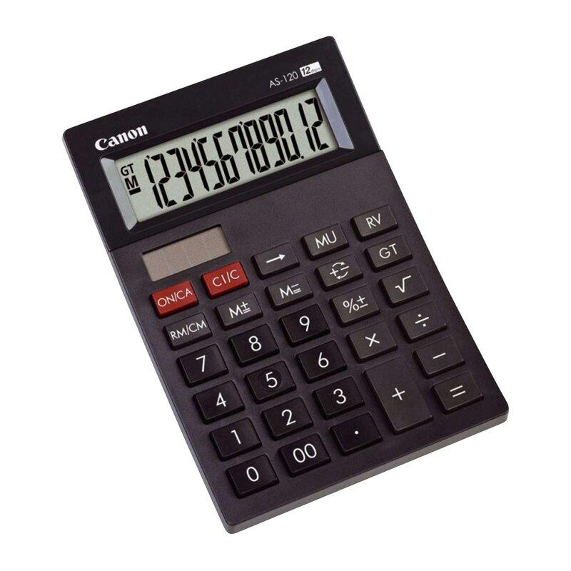 Canon Tischrechner mini AS-120 12stellig schwarz