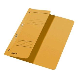 3740 Ösenhefter 1 2 Vorderdeckel A4 kfm Heftung Manilakarton gelb Leitz