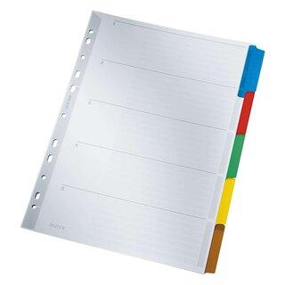 A4 blanko weiß Karton Esselte Register farbige Taben 5 Blatt