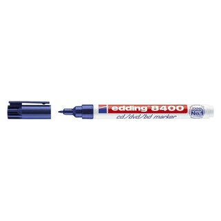 Edding 8400 CD-Marker - permanent, ca. 0,5 - 1 mm, blau