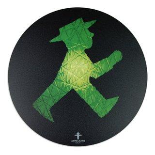 "Das Mousepad /""Rollfeld/"" schwarz Ampelmann Geher Ø 21 x 0,3 cm"