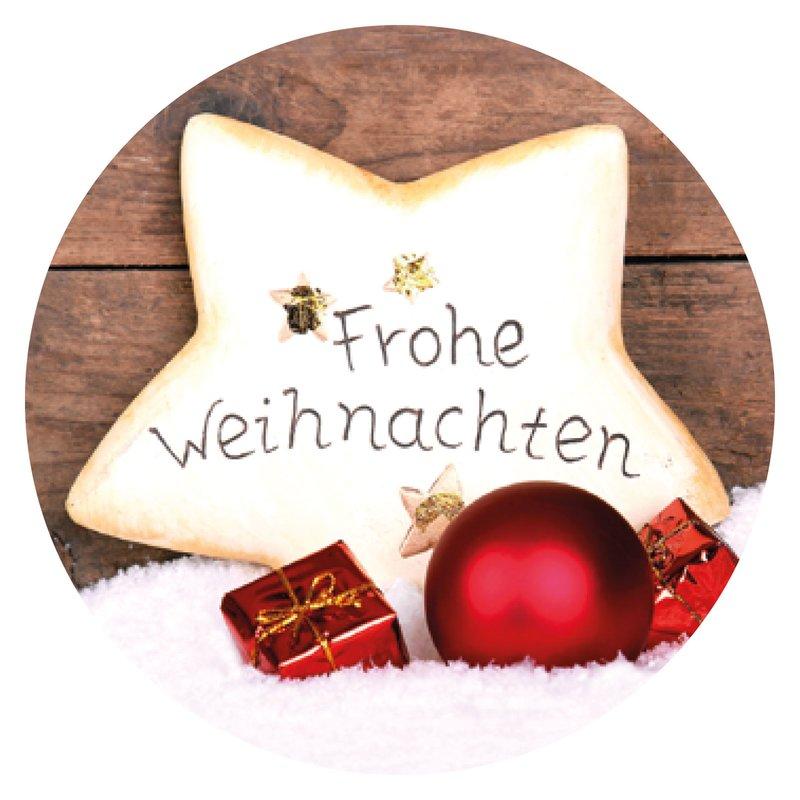 """sticker """"frohe weihnachten mit tannenbaum"""" Ø 30 mm 399"""