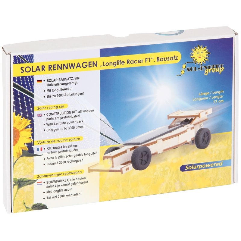 Bartl110492 Solar Rennwagen Bausatz 18 cm lang aus Holz NEU