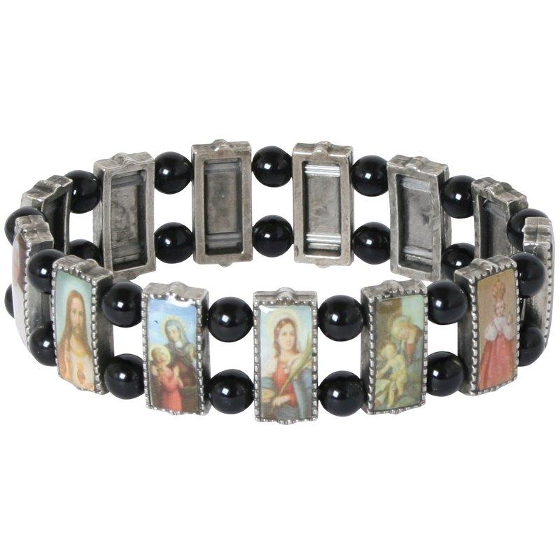 102070 Metall-Armband mit religiösen Motiven
