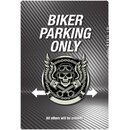 Schild Spruch Biker parking only 20 x 30 cm Blechschild
