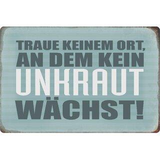 """Schild Spruch /""""Wanted dead or alive Osterhase Reward/"""" 20 x 30 cm Blechschild"""