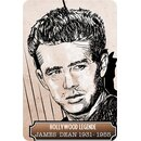 Schild Spruch Hollywood Legende James Dean Portrait 20 x...