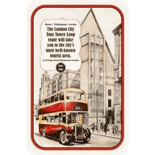 Schild Spruch Vintage London City Tour 1931-1962 20 x 30 cm Blechschild