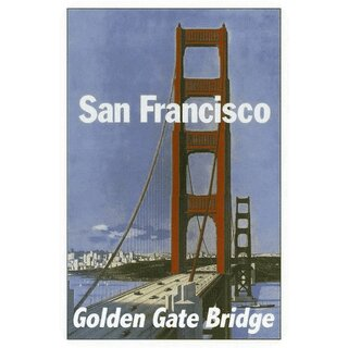 Schild Stadt San Francisco Golden Gate Bridge 20 x 30 cm Blechschild