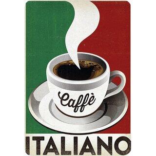 """Schild Spruch /""""Caffé Italiano/"""" 20 x 30 cm Blechschild"""